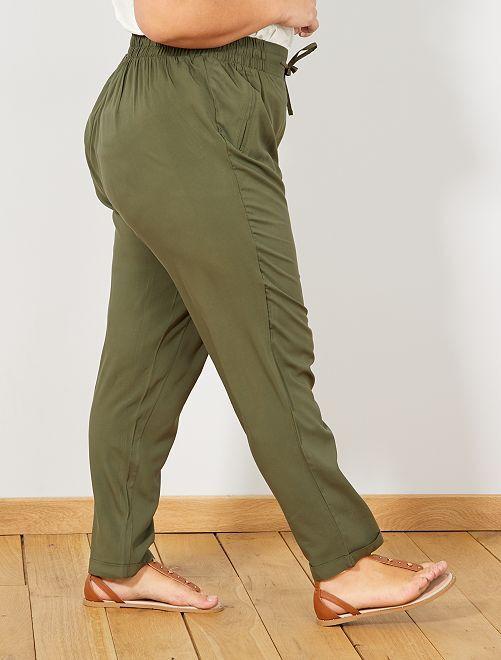 nuovo stile a2aeb f3f1f Pantaloni fluidi viscosa