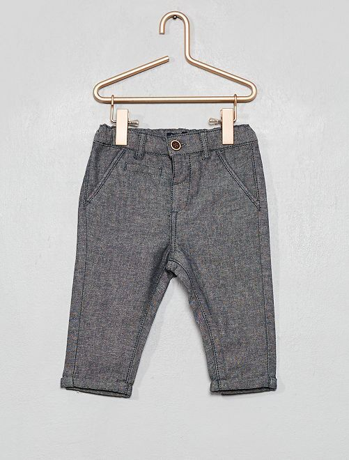 Pantaloni in Chambray                             blu chambray