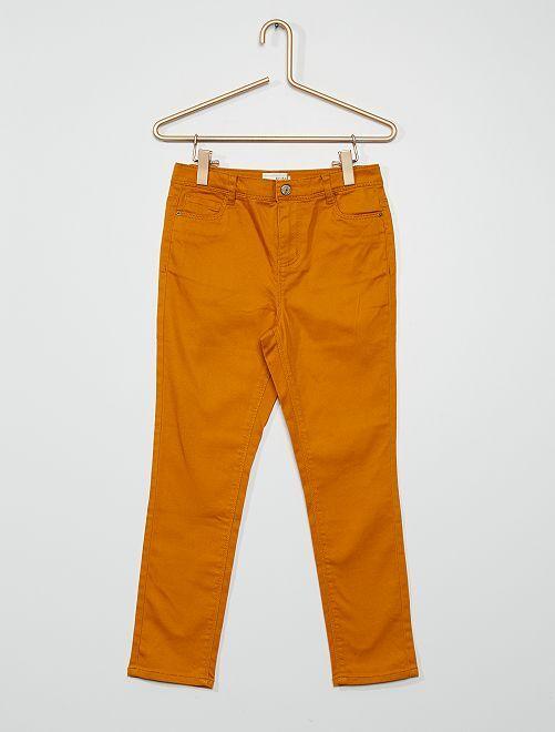 Pantaloni in cotone stretch                                                                             GIALLO