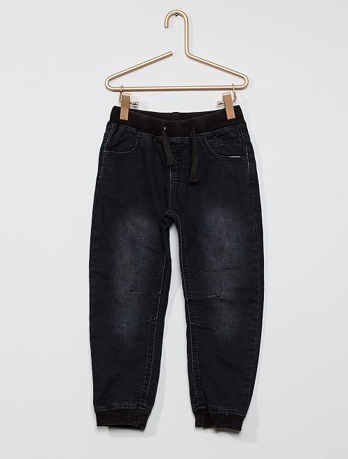 Pantaloni in cotone stretch                             grigio denim