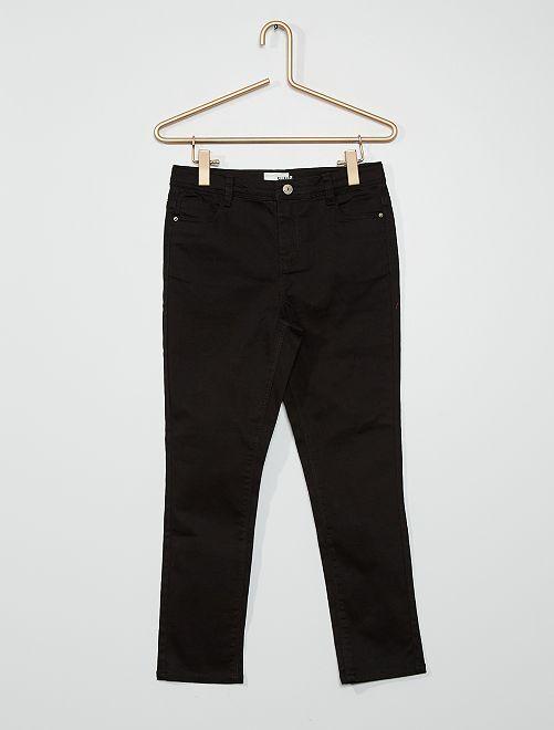 Pantaloni in cotone stretch                                                                             nero