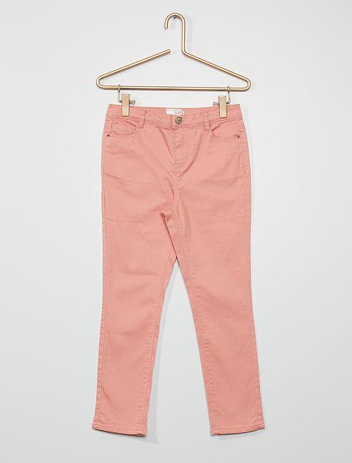 Pantaloni in cotone stretch                                                                             ROSA