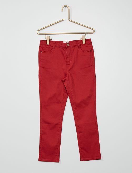 Pantaloni in cotone stretch                                                                             rosso