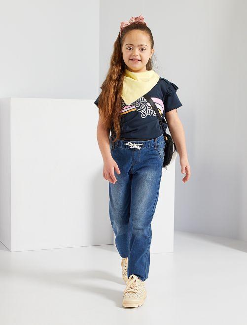 Pantaloni in denim adaptive                             BLU