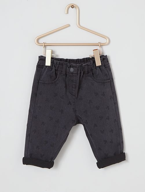 Pantaloni in denim 'Minnie'                             NERO