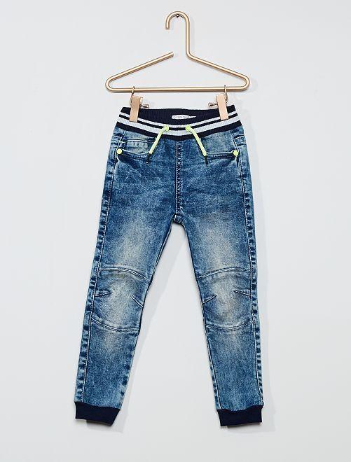 Pantaloni in denim stile joggers                             denim