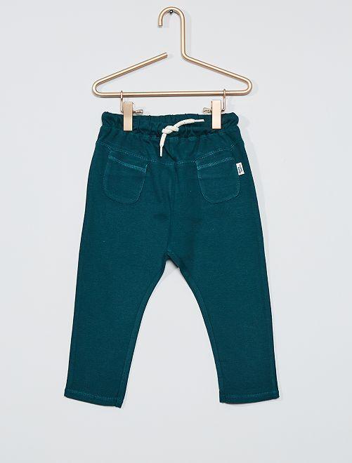 Pantaloni in filato piqué di cotone                     BIANCO