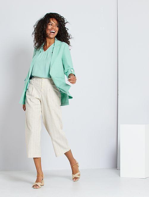 Pantaloni in lino eco-sostenibili                             BEIGE