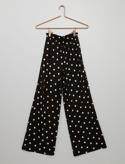 Pantaloni in maglia goffrata                                         NERO