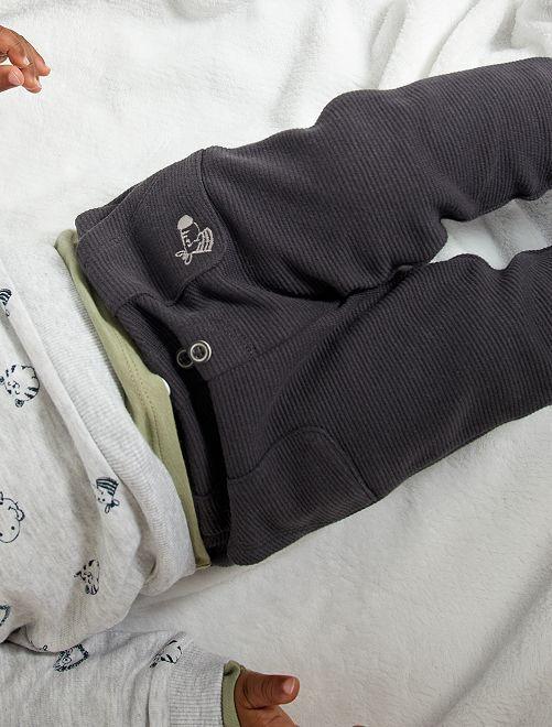Pantaloni in maglia ottoman                                                                 GRIGIO
