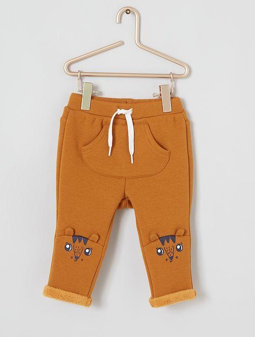 Pantaloni in tessuto felpato caldo                                         GIALLO