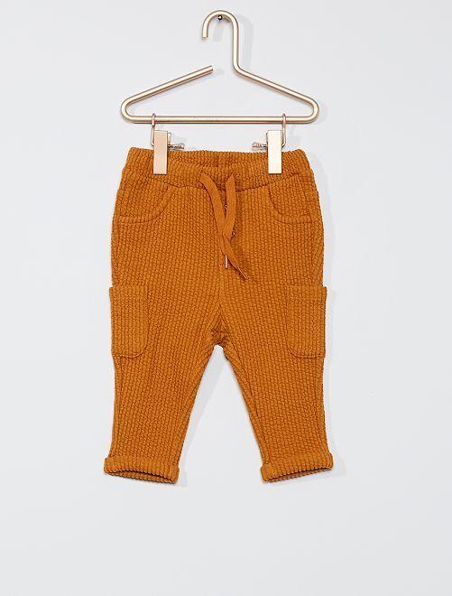 Pantaloni in tessuto felpato                                                     GIALLO