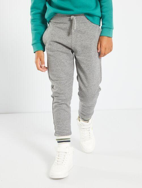 Pantaloni in tessuto felpato                                                                                         GRIGIO