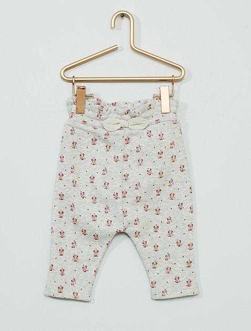 Pantaloni in tessuto felpato 'Minnie' eco-sostenibili                             GRIGIO