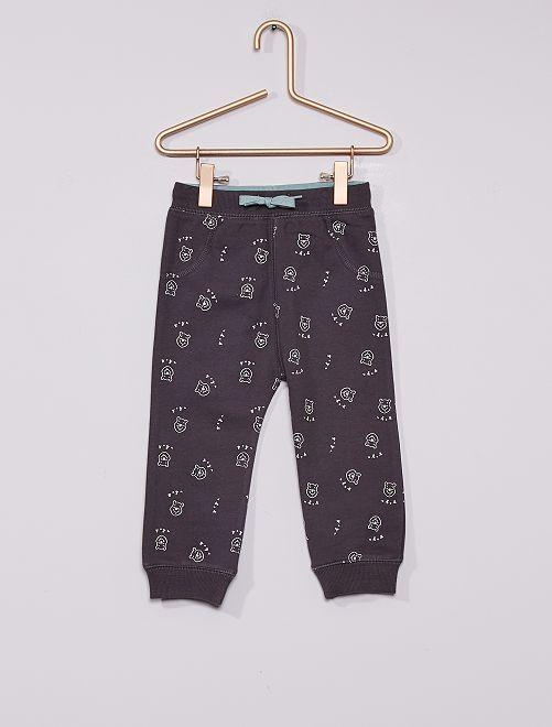 Pantaloni in tessuto felpato 'Winnie' eco-sostenibili                             GRIGIO