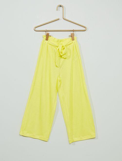 Pantaloni in tessuto leggero                                                     GIALLO