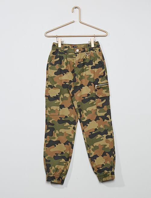 Pantaloni in twill -                                                                 KAKI