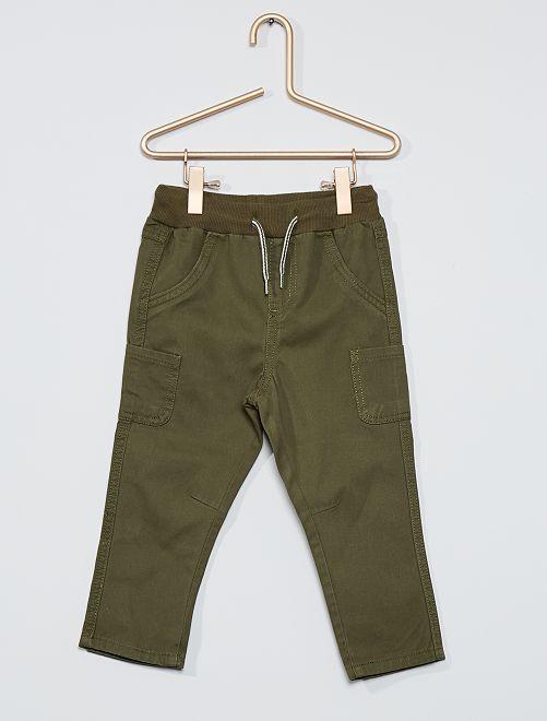 Pantaloni in twill di cotone                                                                                         KAKI