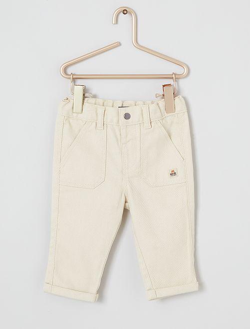 Pantaloni in twill eco-sostenibili                                                     BEIGE
