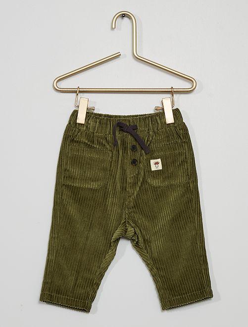 Pantaloni in velluto a coste                                                     verde licheno