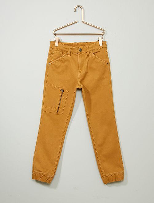 Pantaloni jeans jogger                                                     BEIGE
