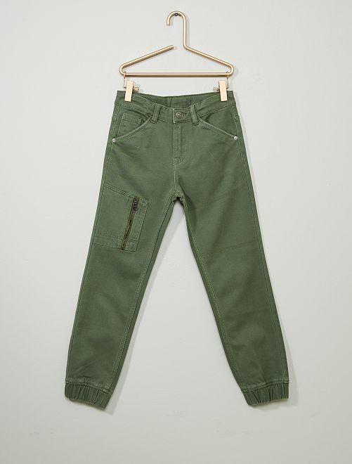 Pantaloni jeans jogger                                                      verde timo