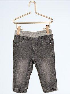 Pantaloni, jeans, leggings - Pantaloni jeggings denim foderati