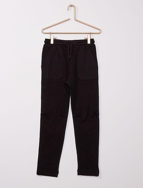 Pantaloni joggers spigati                                                                 nero