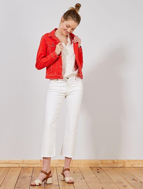 Pantaloni larghi cropped                     BIANCO Donna