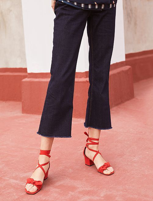 Pantaloni larghi cropped                                         BLU Donna
