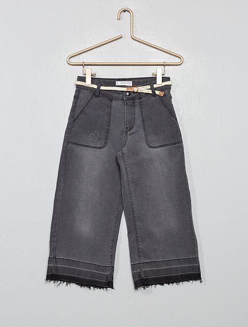 Pantaloni larghi cropped                             GRIGIO