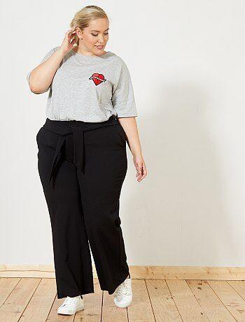 Pantaloni larghi da annodare in vita - Kiabi