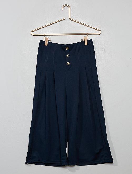 Pantaloni larghi fluidi                             BLU