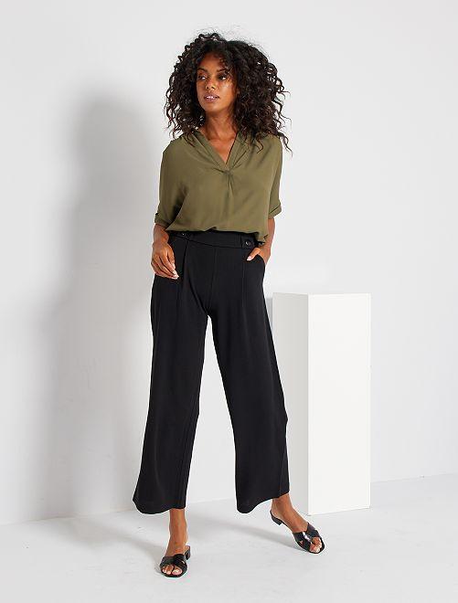 Pantaloni larghi fluidi                                         nero