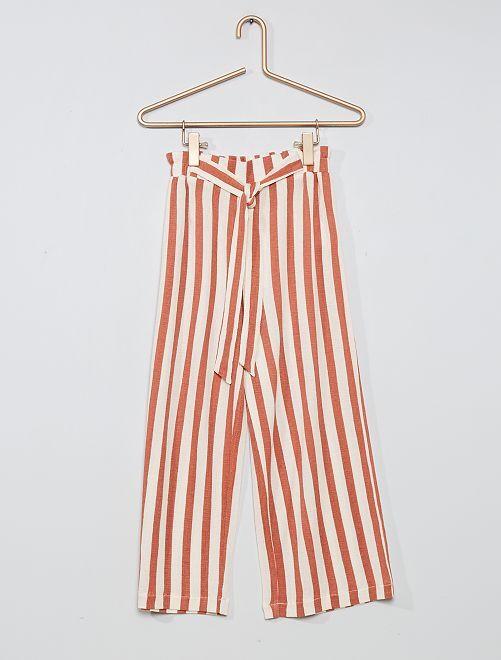 Pantaloni larghi                                                     rosa a righe