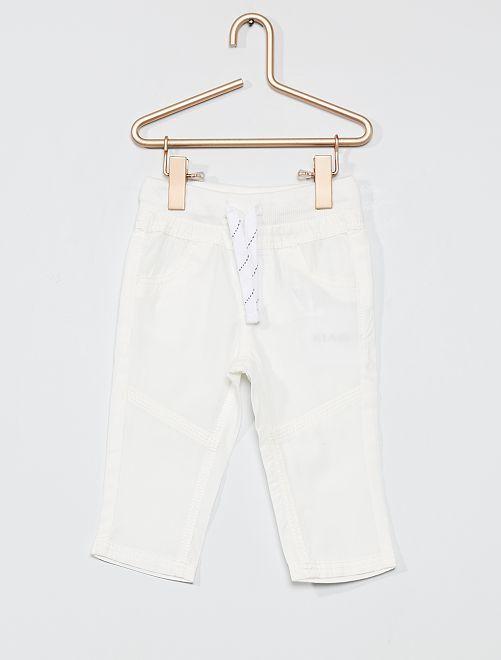 Pantaloni leggeri in popeline                                                                             bianco neve