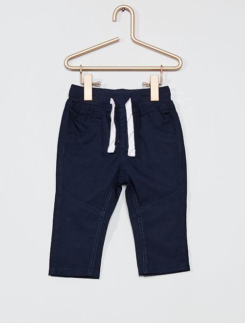 Pantaloni leggeri in popeline                             blu