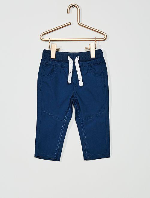 Pantaloni leggeri in popeline                                                                                         blu scuro