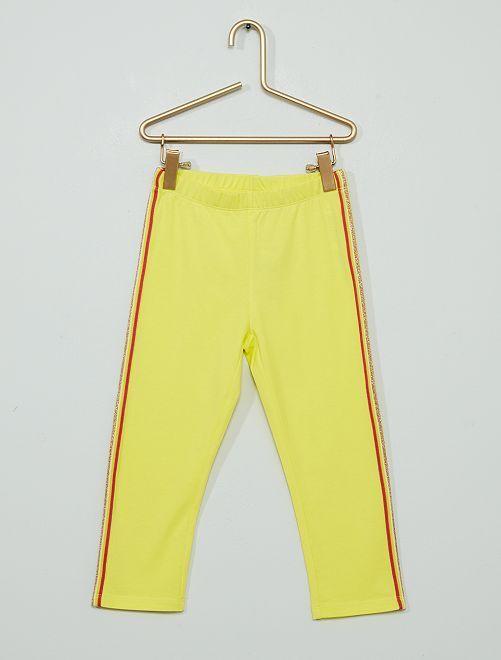 Pantaloni leggings corti in misto cotone                                                     ROSA
