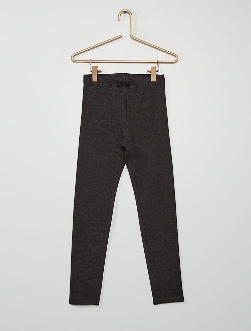 Pantaloni leggings in misto cotone                                                                 GRIGIO