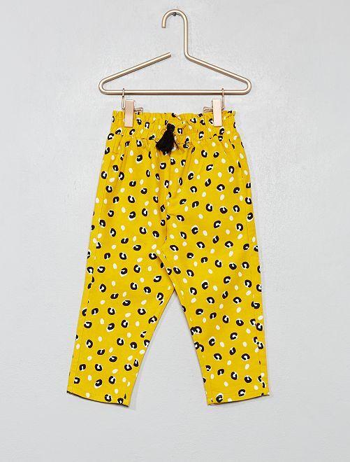 Pantaloni leopardati                                                     GIALLO Neonata