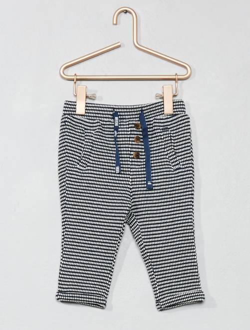 Pantaloni maglia fantasia                             BLU Neonata