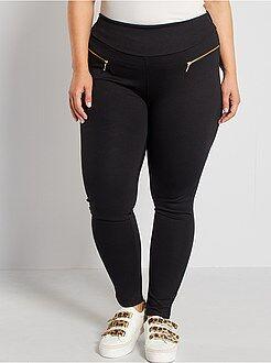 Pantaloni - Pantaloni maglia Milano zip fantasia - Kiabi