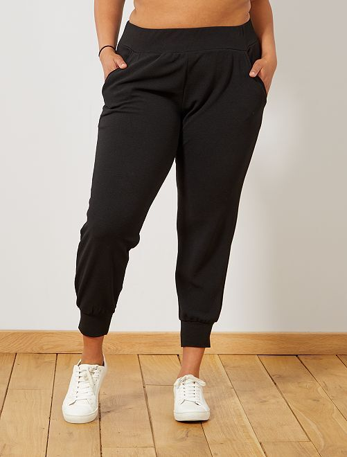 Pantaloni maglia stretti sul fondo                             nero