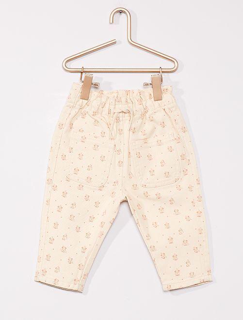 Pantaloni 'Minnie' eco-sostenibili di 'Disney'                             BIANCO