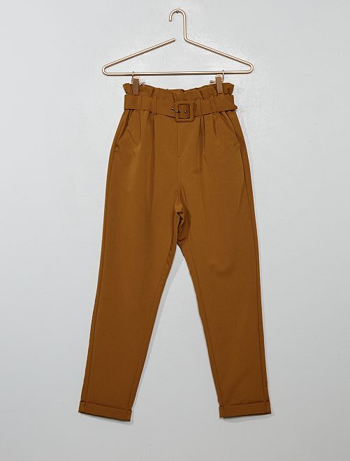 Pantaloni 'paper-bag'                                                                 ARANCIONE
