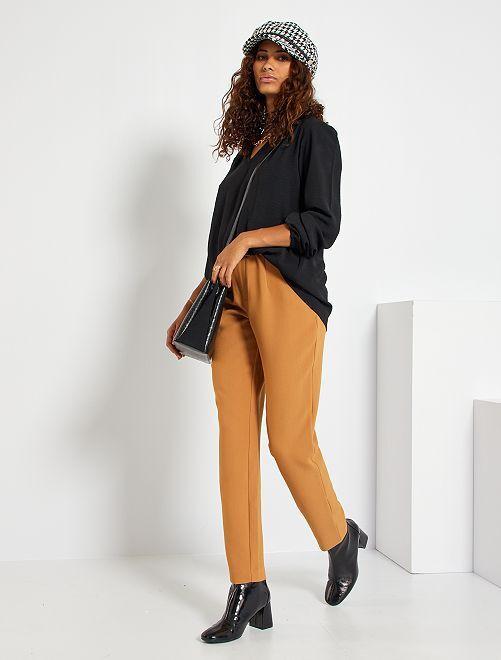 Pantaloni paperbag                                                                                         BEIGE