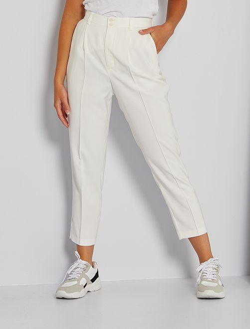 Pantaloni paperbag                             bianco neve