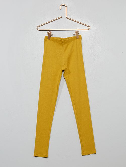 Pantaloni pigiama a coste                             GIALLO