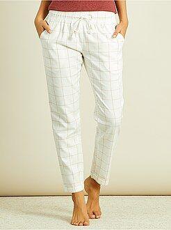 Intimo dalla S alla XXL - Pantaloni pigiama flanella - Kiabi